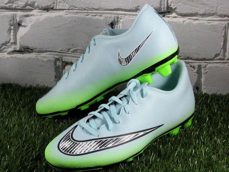 Nike Mercurial Vortex II FG Soccer Cleats WOMENS Size 10 Ice Blue/Green #Nike