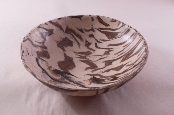 Bowl in tiger skin pattern ceramic bowl by CeramicsNaturalist