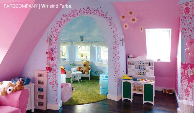 Raumgestaltung Eines Traum Kinderzimmers. Malerarbeiten Hannover.  Wandgestaltung. Farbgestaltung. Farbgestalter. Wohnraumgestaltung.