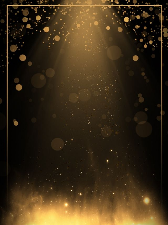 Creative Aesthetic Black Gold Light Effect Background in