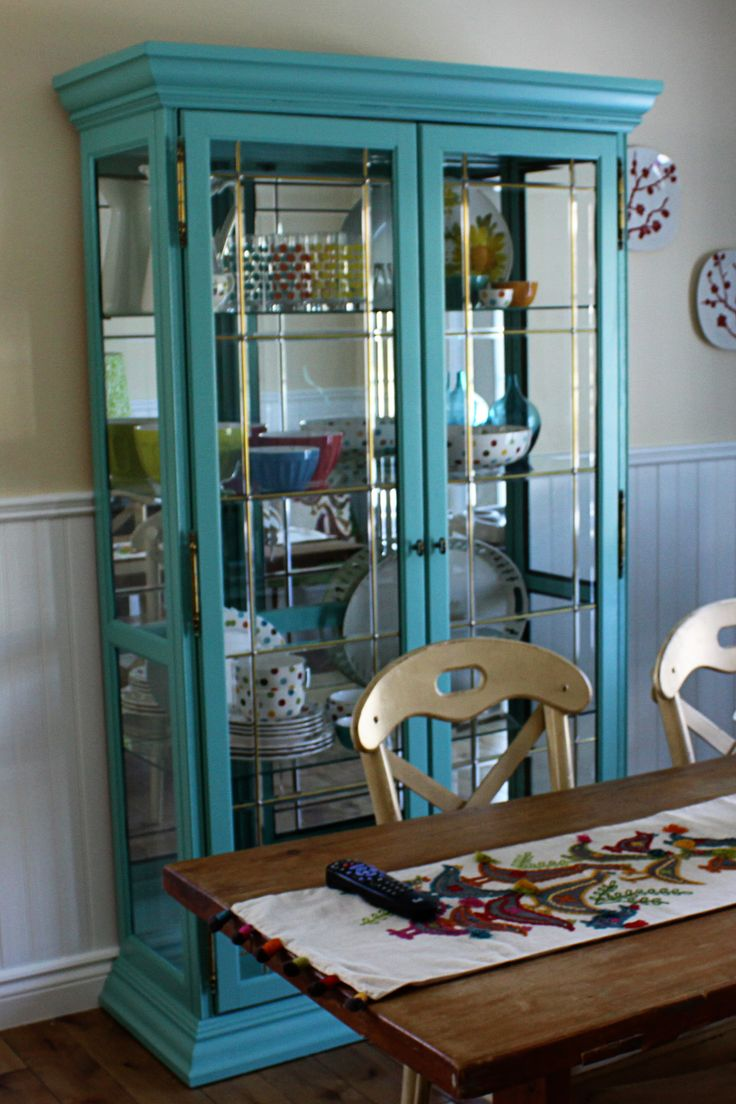 Teal China Cabinet China Cabinets Pinterest Cabinets Blue China Cabine