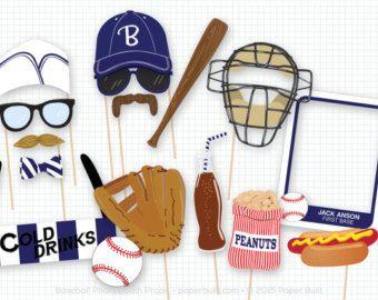 Apoyos de la cabina de la foto de béisbol por ThePaperPropShop