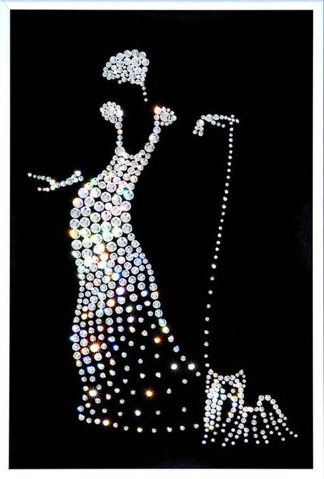 Pictures made with Swarovski Crystals