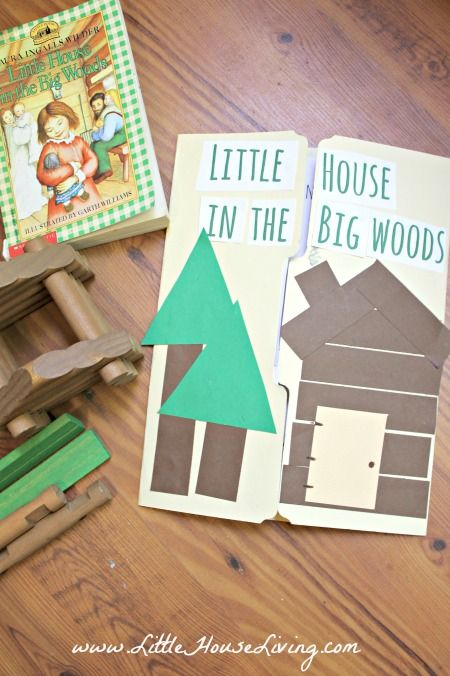 Little House in the Big Woods Printable Lapbook Pages - Little House Living