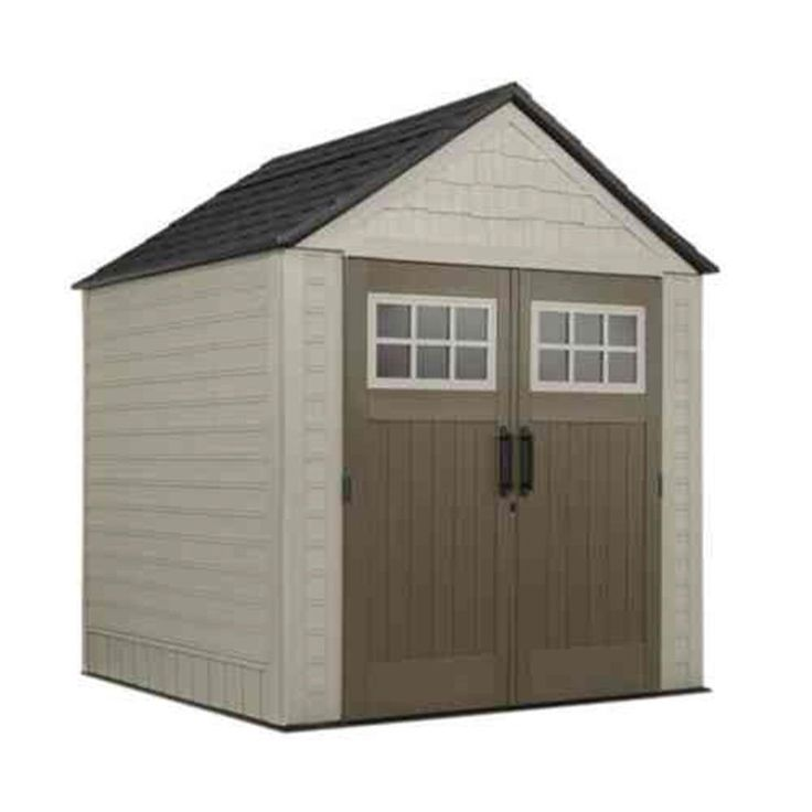 this backyard shed could be the storage solution you need for your lawn mower and other