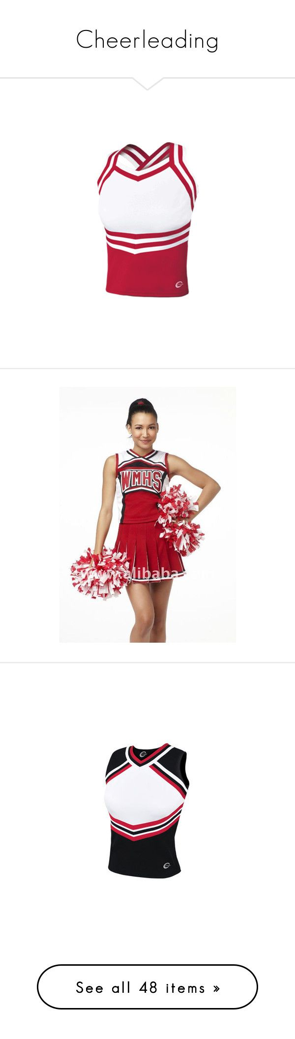 """Cheerleading"" by nialls-princess-megan ❤ liked on Polyvore featuring costumes, cheerleaders, cheerleader costume, cheerleader halloween costume, tops, cheer, sports, t-shirts, long tops et sports tops"