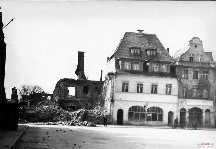 Rynek 5, Żagań - 1952 rok, stare zdjęcia
