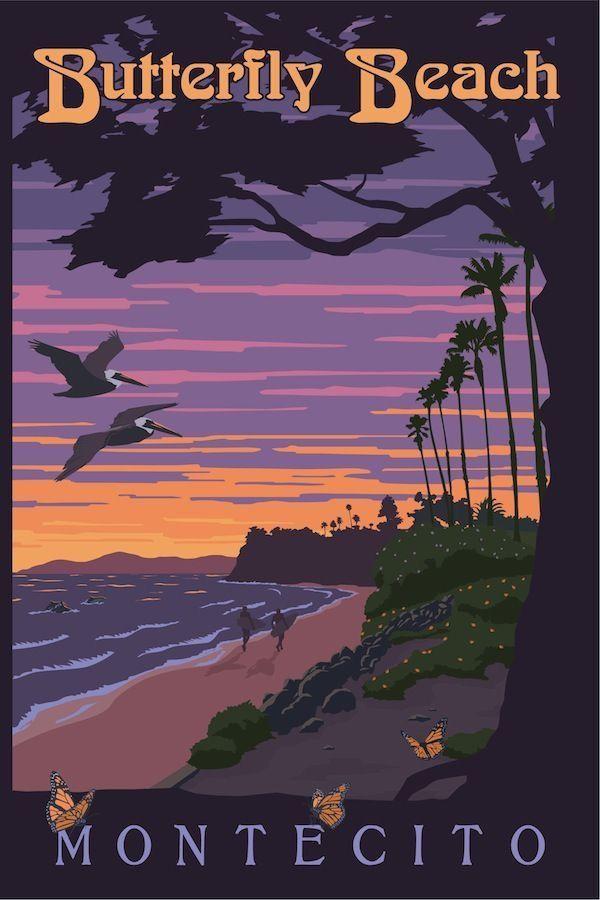 Butterfly Beach, Montecito, California #TravelDestinationsUsaMap