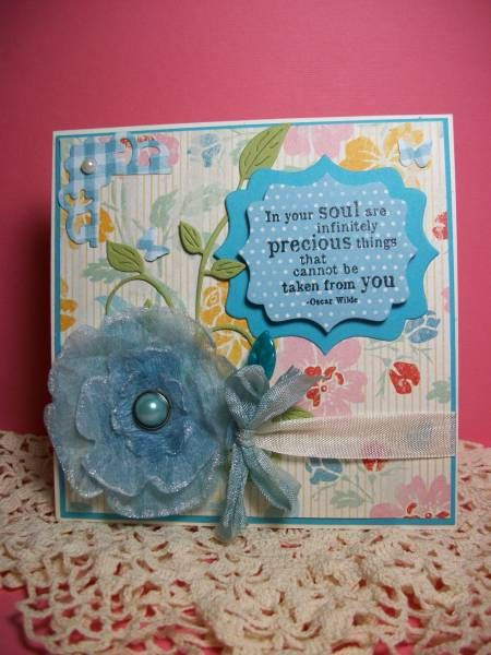 TLC382 Dryer Sheet Flower by morningsun47 - Cards and Paper Crafts at Splitcoaststampers