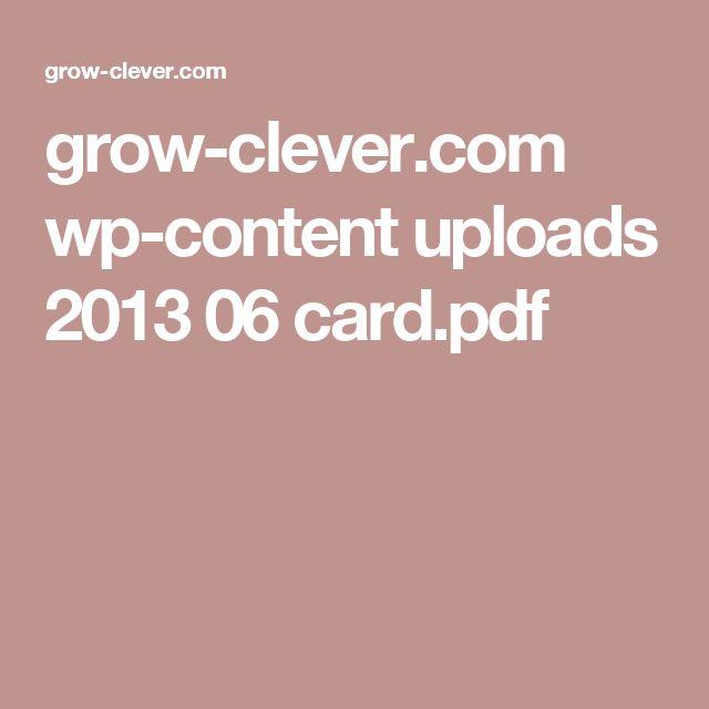 grow-clever.com wp-content uploads 2013 06 card.pdf