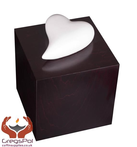 Memorial Cremation Urn Heart of Remembrance Urn for Ashes Adult Funeral Urn