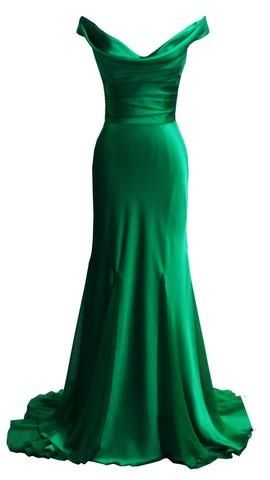 Emerald green silk dress This is so my style. I would love this in a soft pink or lilac to wear at my own wedding.
