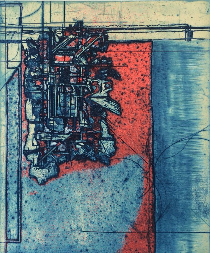 Viscosity etching and engraving. 20cm x 30cm