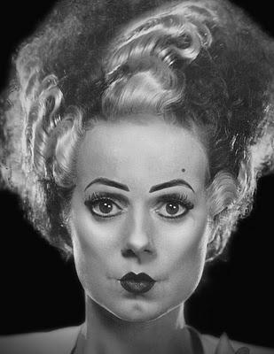 Elsa Lanchester as the Bride of Frankenstein.
