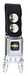 Chevy Gold Bowtie Seat Belt Buckle Keychain