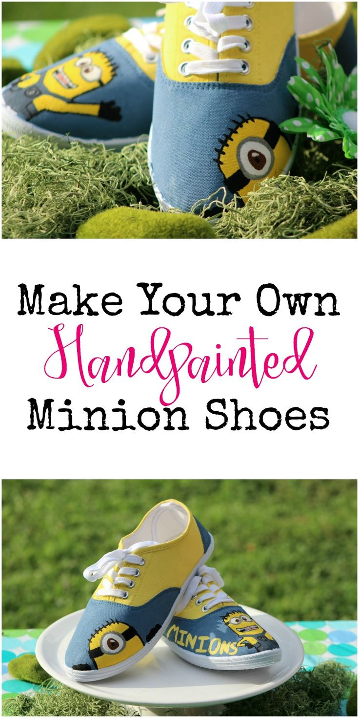 How to make your own handpainted Minion Shoes to celebrate Despicable Me.