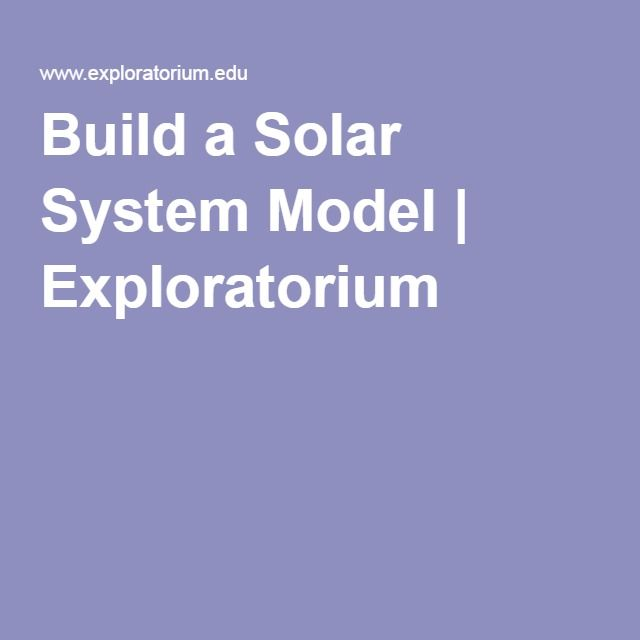 1000+ ideas about Build A Solar System on Pinterest ...
