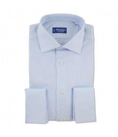 Blue Luxury Basket Weave Shirt