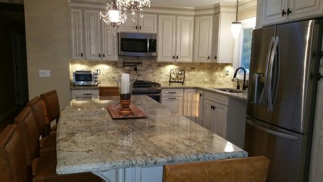 Image Result For White Kitchen Cabinets Granite Countertops