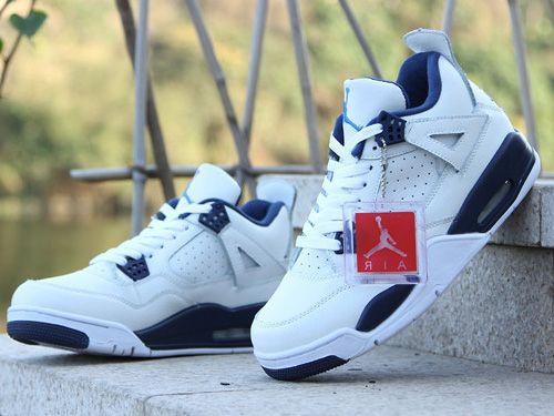 Air Jordan 4 Columbia White Blue Men And Women Shoes,Price:$48