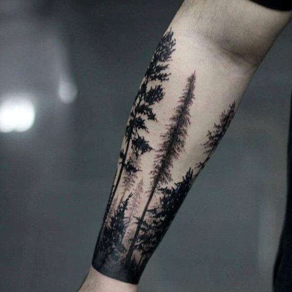 Ideas masculinas del diseño del tatuaje del árbol del antebrazo de los individuos