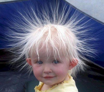 I fear that Olivia's hair will look like this...