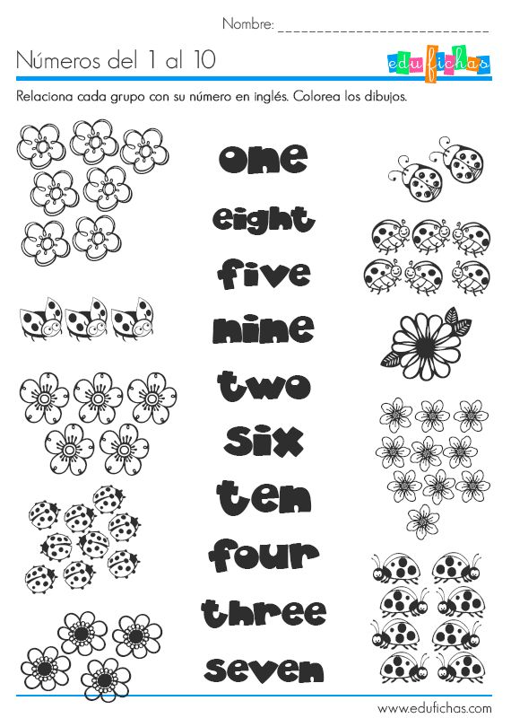 Los números en inglés #learn #numbers http://www.edufichas.com/actividades/idiomas/ingles/los-numeros-en-ingles/