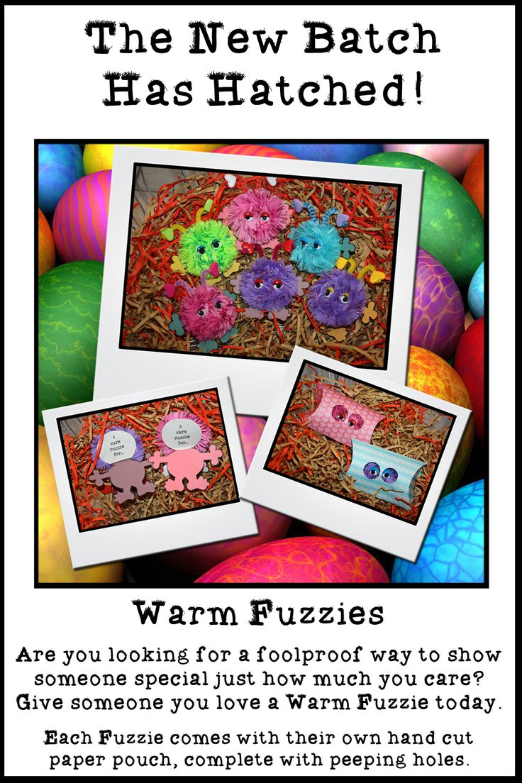 Warm Fuzzie:  Hand cut/made gift card.  Give the gift of a warm fuzzie feeling today.