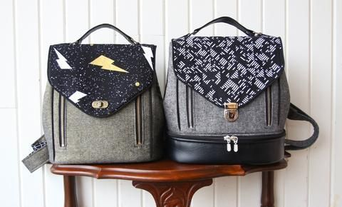 My very first pattern as part of the Bag of the Month Club has just been released - The Clover Convertible bag. The Clover is a medium-sized bag that converts from a backpack to a cross body bag with
