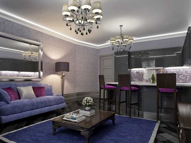 Люстра в стиле арт-деко в гостиной фото