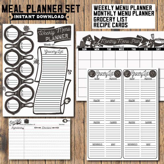 The  Best Monthly Menu Planner Ideas On   Menu