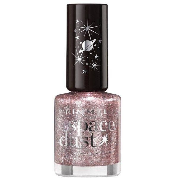 Rimmel London Space Dust Nail Polish (14 RON) ❤ liked on Polyvore featuring beauty products, nail care, nail polish, makeup, rimmel nail polish and rimmel