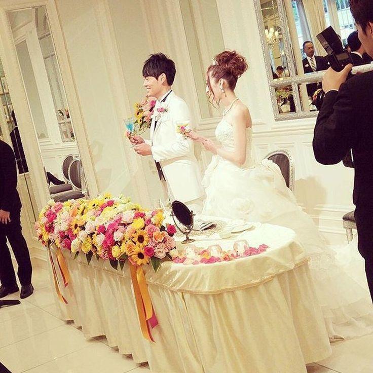 【前撮り&結婚式レポ】夏のフラワーガーデン♡咲き誇るひまわりウェディング