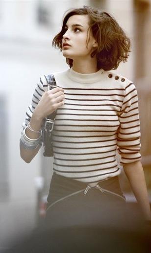 White and black Benton sweater