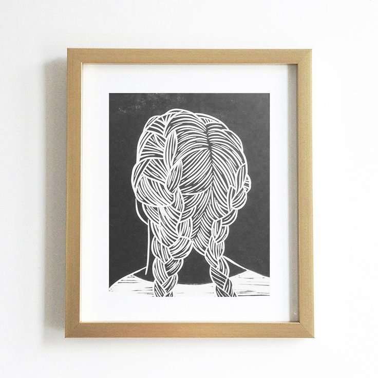 Set Forth Studio – Braids IV Linocut Print, $35 // This art print will look gorgeous on your wall, and makes a great gift. Buy it now in the shop!