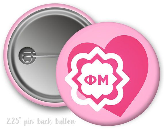 VIEW OUR ENTIRE PHI MU COLLECTION https://www.etsy.com/shop/UptownGreek?search_query=phi+mu  ♥♥♥♥♥♥♥♥♥♥♥♥♥♥♥♥♥♥♥♥♥♥♥♥♥♥♥♥♥♥♥♥♥♥♥♥  Standard size 2.25 round pin back style button available for single or bulk purchase.  ALL BUTTONS ARE IN STOCK AND READY TO SHIP!  ♥♥♥♥♥♥♥♥♥♥♥♥♥♥♥♥♥♥♥♥♥♥♥♥♥♥♥♥♥♥♥♥♥♥♥♥  Buttons are sold individually. If you are interested in bulk rates (100 or more buttons), please send us a message for pricing and we can setup a custom listing for purch...