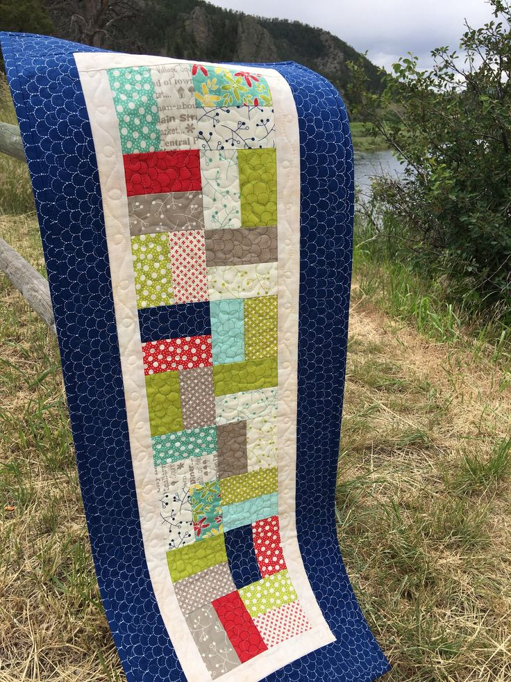 Quilted Table Runner, Extra Long Table Runner Fun Summer Runner by ChokeCherryHill on Etsy https://www.etsy.com/listing/530495707/quilted-table-runner-extra-long-table