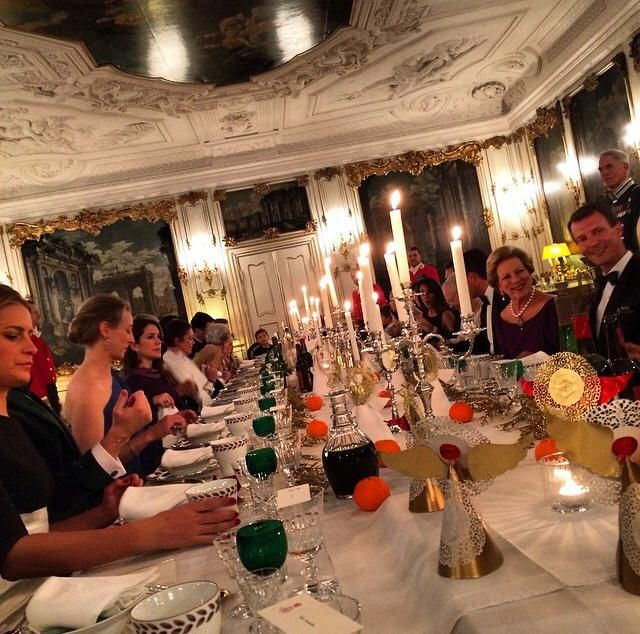 The Danish Royal Family and the Greek Royal Family celebrating Christmas Eve 2014 together at Fredensborg Palace. Picture courtesy of Prince Achileas-Andreas of Greece and Denmark.