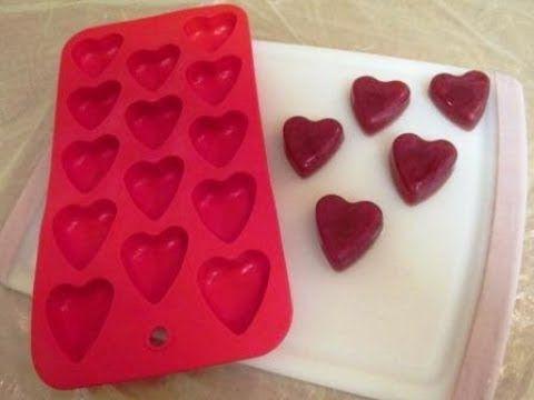 Hearth soap embeds for cupcake-Facem inimioare din sapun pentru decor
