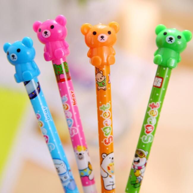 1PCS/lot NEW Kawaii 3D Rilakkuma color Bear design 0.5mm Mechanical pen Students' gift prize office school stationery supply