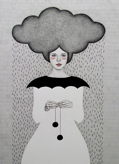 "Sofia Bonati's ""Rain"" collection is perfect for World Meteorlogical Day!     ""Amanda"" by SofiaBonati 