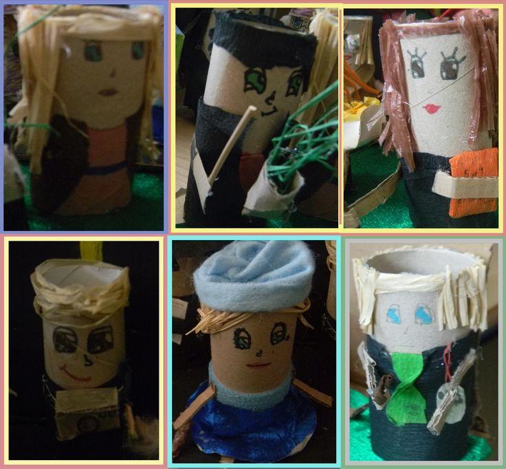 Hogwart and Beaux-Bâtons students : Luna Lovegood, Neville Longbottom, Hermione Granger, Colin Crivey, Fleur Delacour and Drago Malefoy
