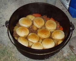 Dutch oven recipes from a Boy Scout troop
