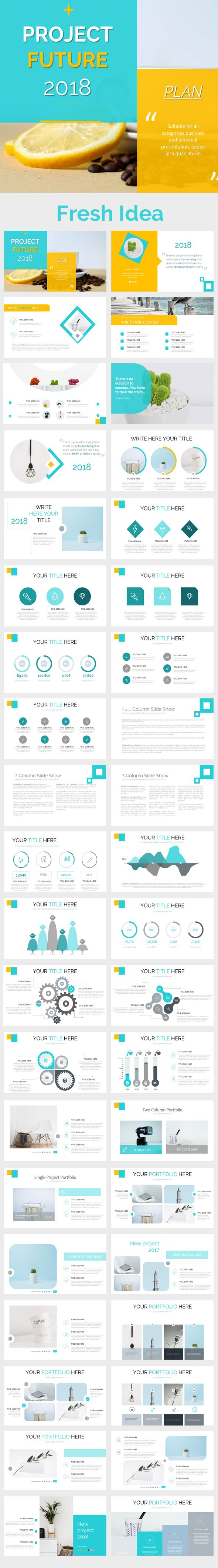 Project 2018 Powerpoint Presentation Template - 40 Slide Unique