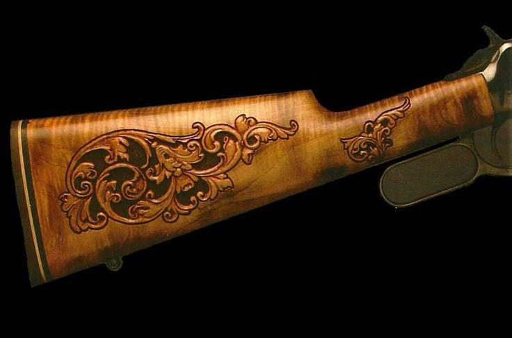 Gunstock carving by joe cummings wood engraved guns