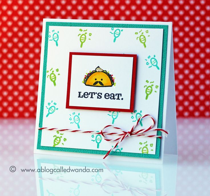 The 16 best handmade invitation cards images on pinterest handmade party invitation card created by contributor wanda guess for sweet stamp shop using the taco stopboris Choice Image