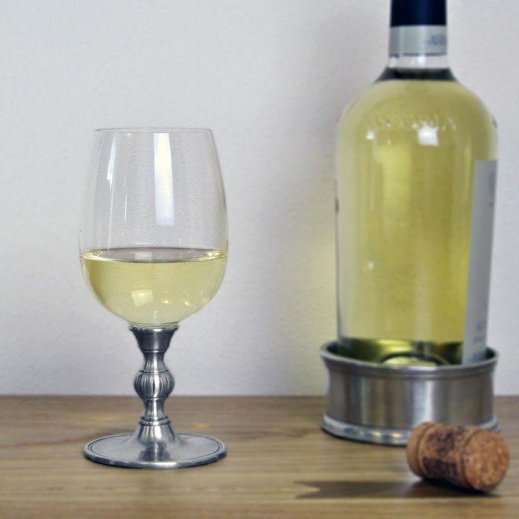 Crystal & Pewter Wine Glass - Height: 16 cm (6,3″) - Food Safe Product - #pewter #crystal #wine #glass #peltro #cristallo #calice #vino #zinn #kristallglas #weinkelch #étain #etain #cristal #verre #vin #peltre #tinn #олово #оловянный #glassware #drinkware #barware #accessories #decor #design #bottega #peltro #GT #italian #handmade #made #italy #artisans #craftsmanship #craftsman #primitive