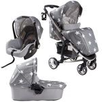 Billie Faiers Travel System in Grey Stars
