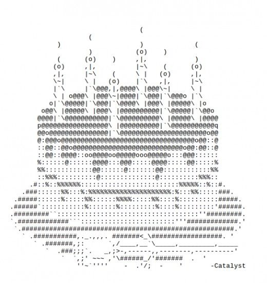 Happy Birthday ASCII Art