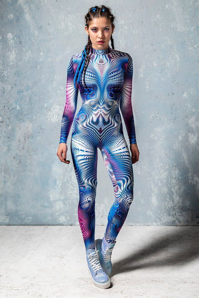 Mobius Trip One Piece Bodysuit Costume. Burning Man Festival Outfit Idea